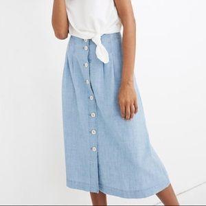 Madewell Chambray Midi Skirt
